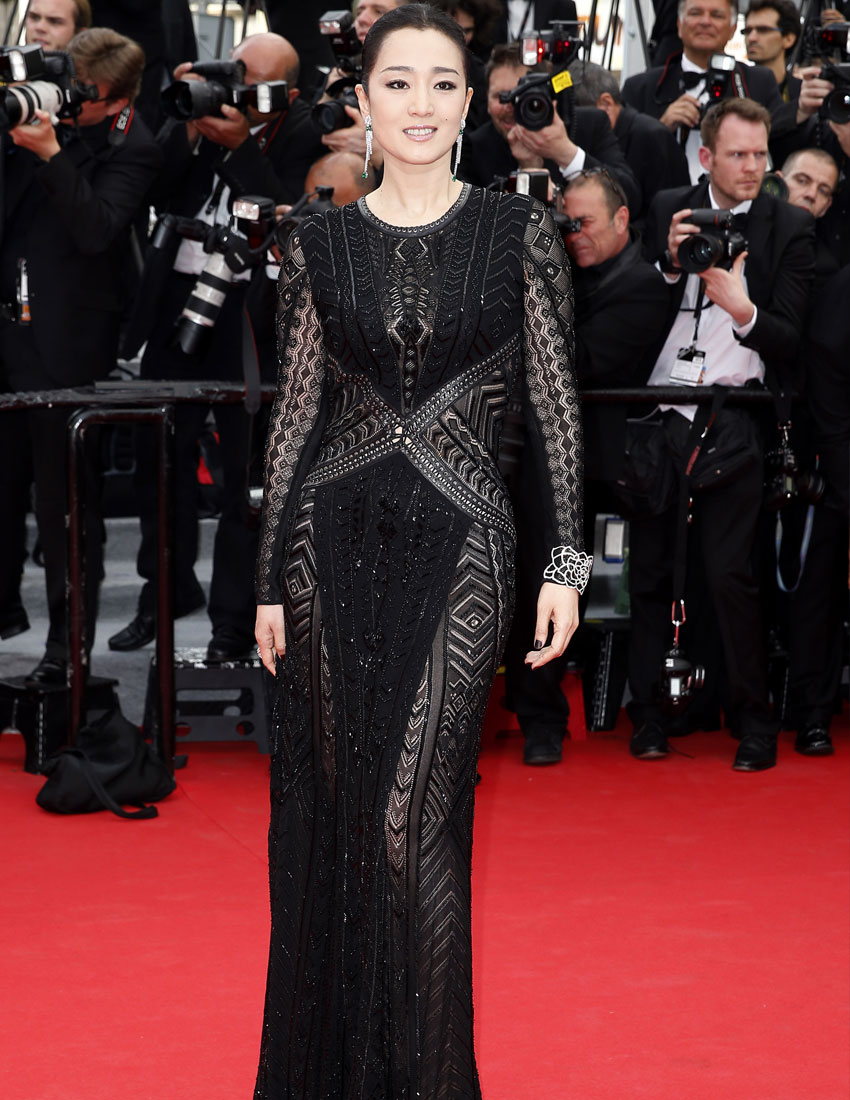 cannes red carpet fashion gong li in roberto cavalli 850 x 1100
