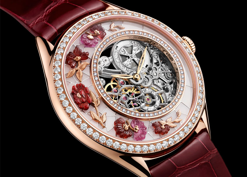beautiful luxury watch complications with flower details 850 x 610