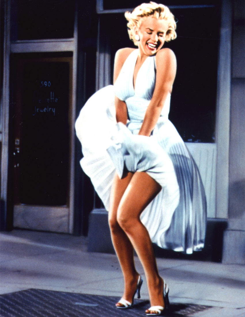 fashion icons in movies marilyn monroe dress in the seven year itch 1955 850 x 1100