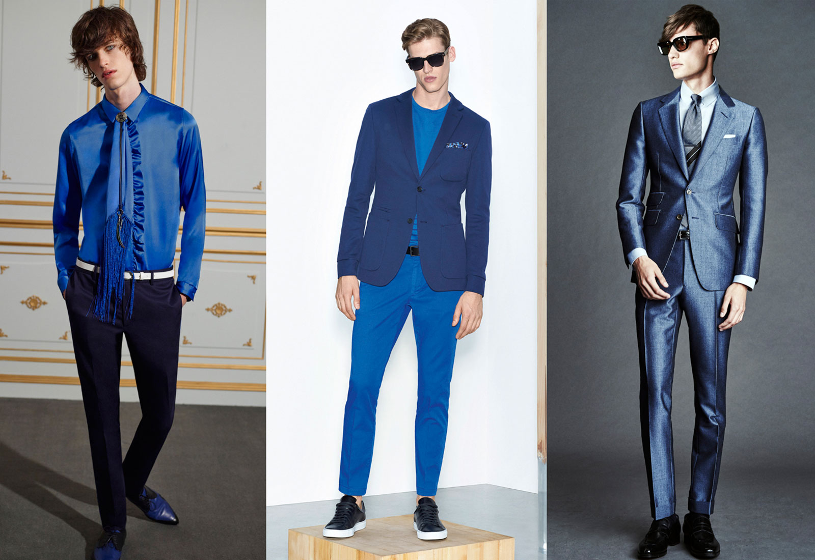spring and summer men's fashion 2016 blue suits from roberto cavalli hugo boss and tom ford 1600 x 1100