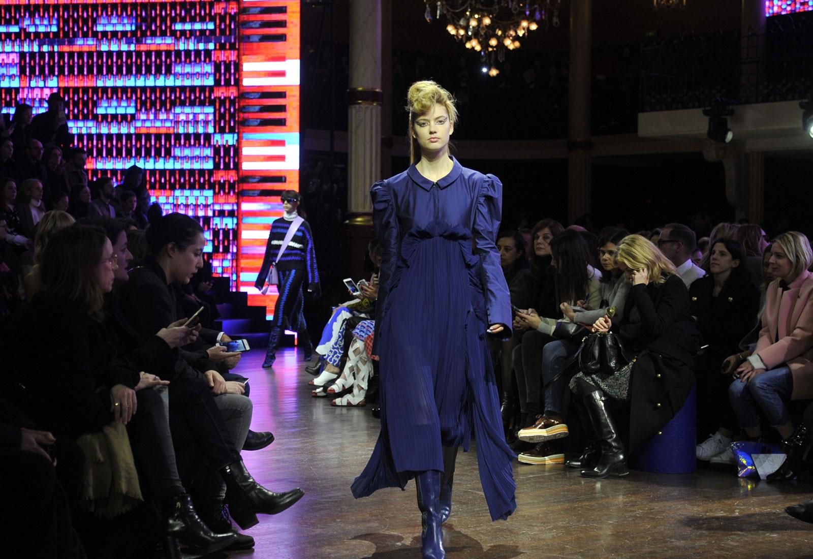 kenzo purple ruffle dress aw16/17 fashion trends 1600 x 1100
