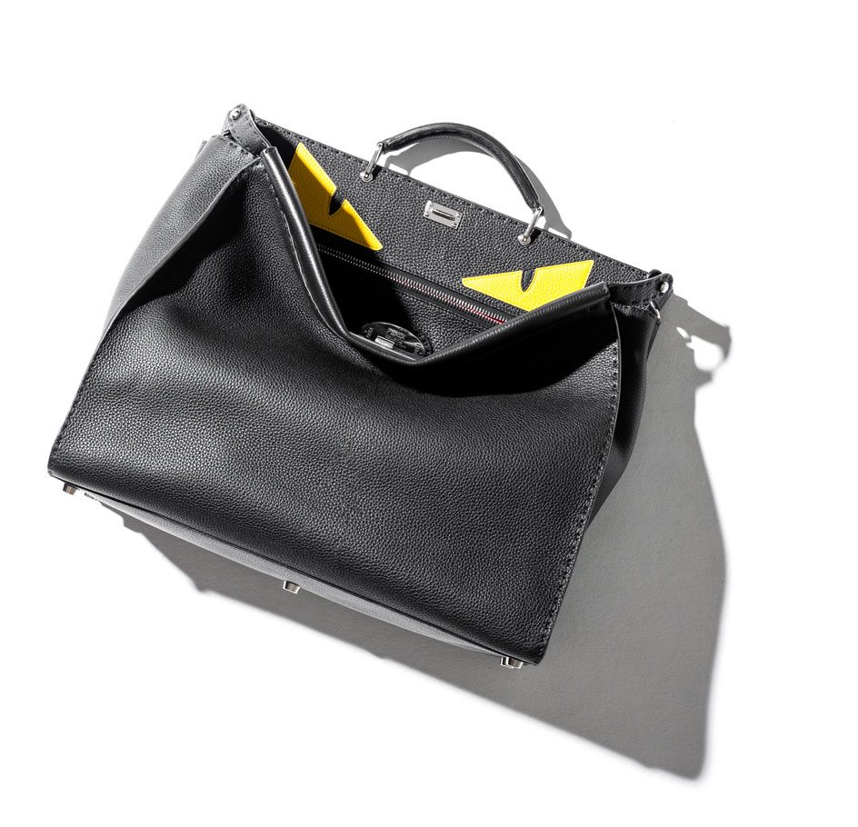 Fendi Peekaboo Men's Bag in black shop the boulevard at studio city macau 944 x 910