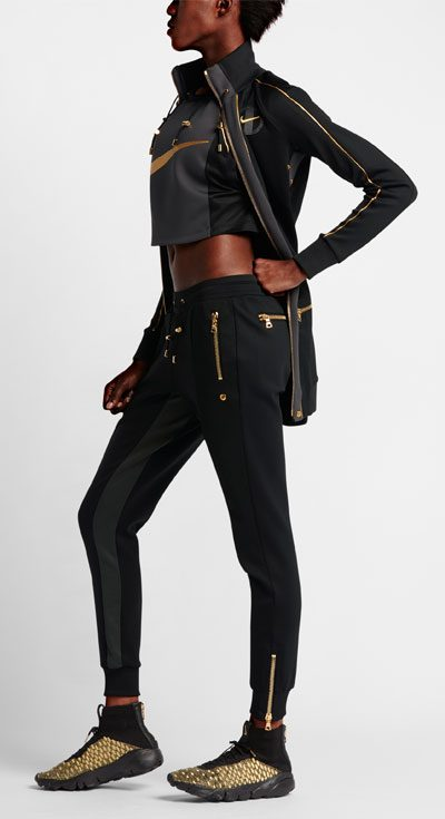 olivier rousteing nikelab fashion collaboration 2016 black and gold sports sportswear collection 400 x 735