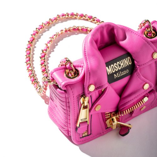 Moschino Pink Biker Jacket Handbag shop the boulevard at studio city macay 994 x 910