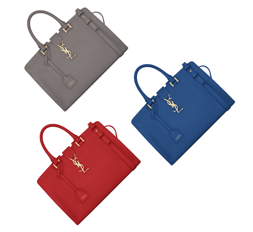 saint laurent classic bags in grey red blue