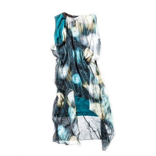 Maison Margiela aqua sleeveless dress