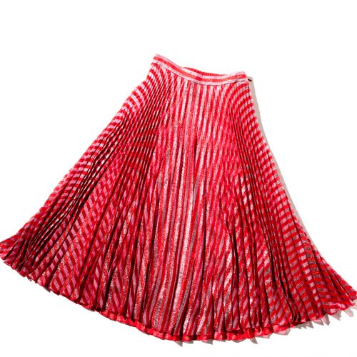 Gucci Red Pleated Skirt