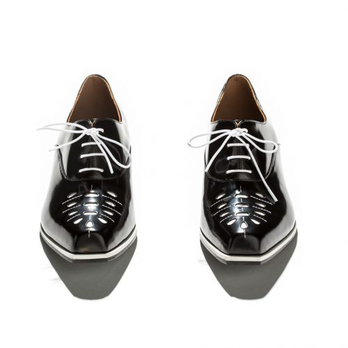 black and white Emporio Armani leather brogues shop the boulevard at studio city macau 994 x 910