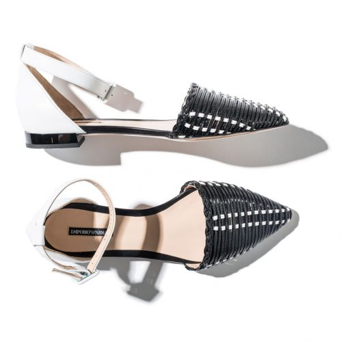 emporio armani weaved sandals in black and white shop the boulevard at studio city macau 994 x 910