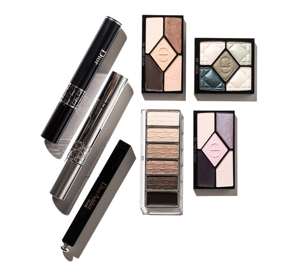 christian dior eyeshadow palette and mascara