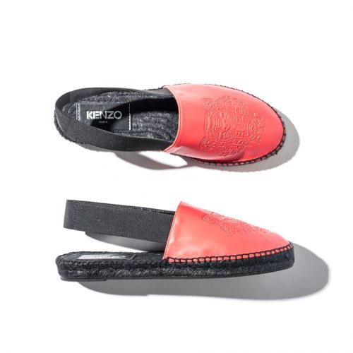 Kenzo Red Leather Slip-ons
