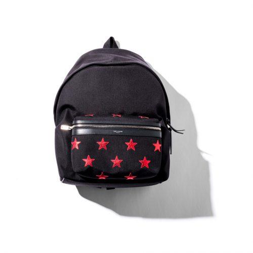 red-star Saint Laurent City California Backpack
