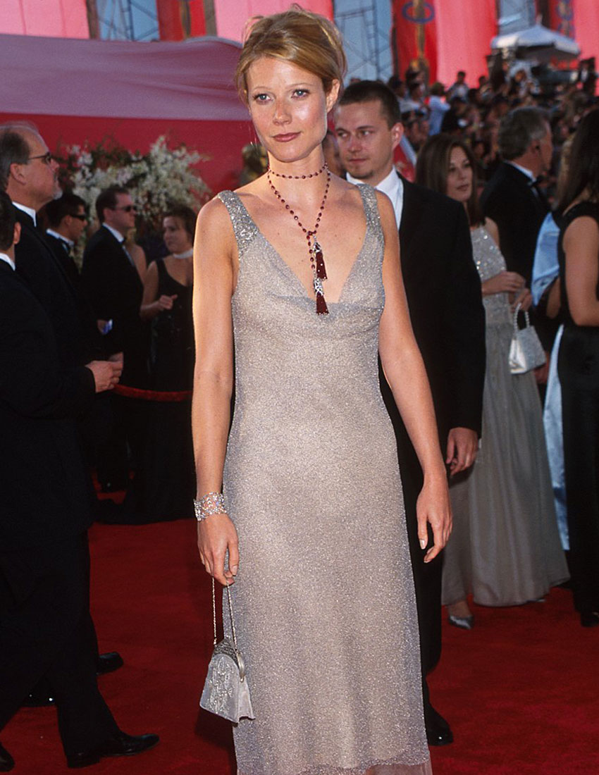 top 5 iconic ck calvin klein collection looks featuring gwyneth paltrow in metallic oscars dress in 2000 850 x 1100