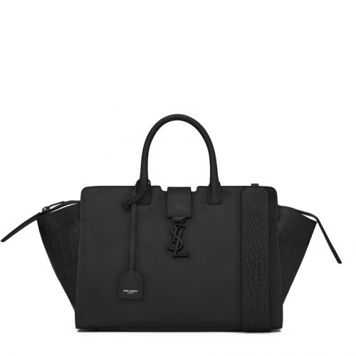 YSL Downtown Black Leather Cabas saint laurent bag