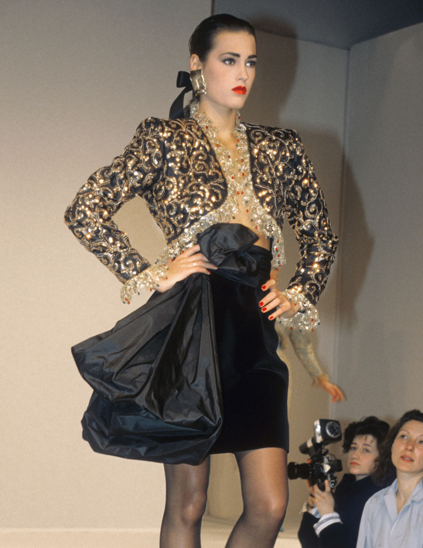 french fashion house yves saint laurent ysl top 5 looks featuring the bolero 80s fashion 850 x 1100