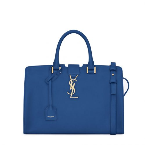 YSL Cabas Royal Blue Leather Bag saint laurent bag