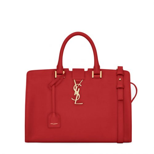 ysl cabas red leather bag saint laurent