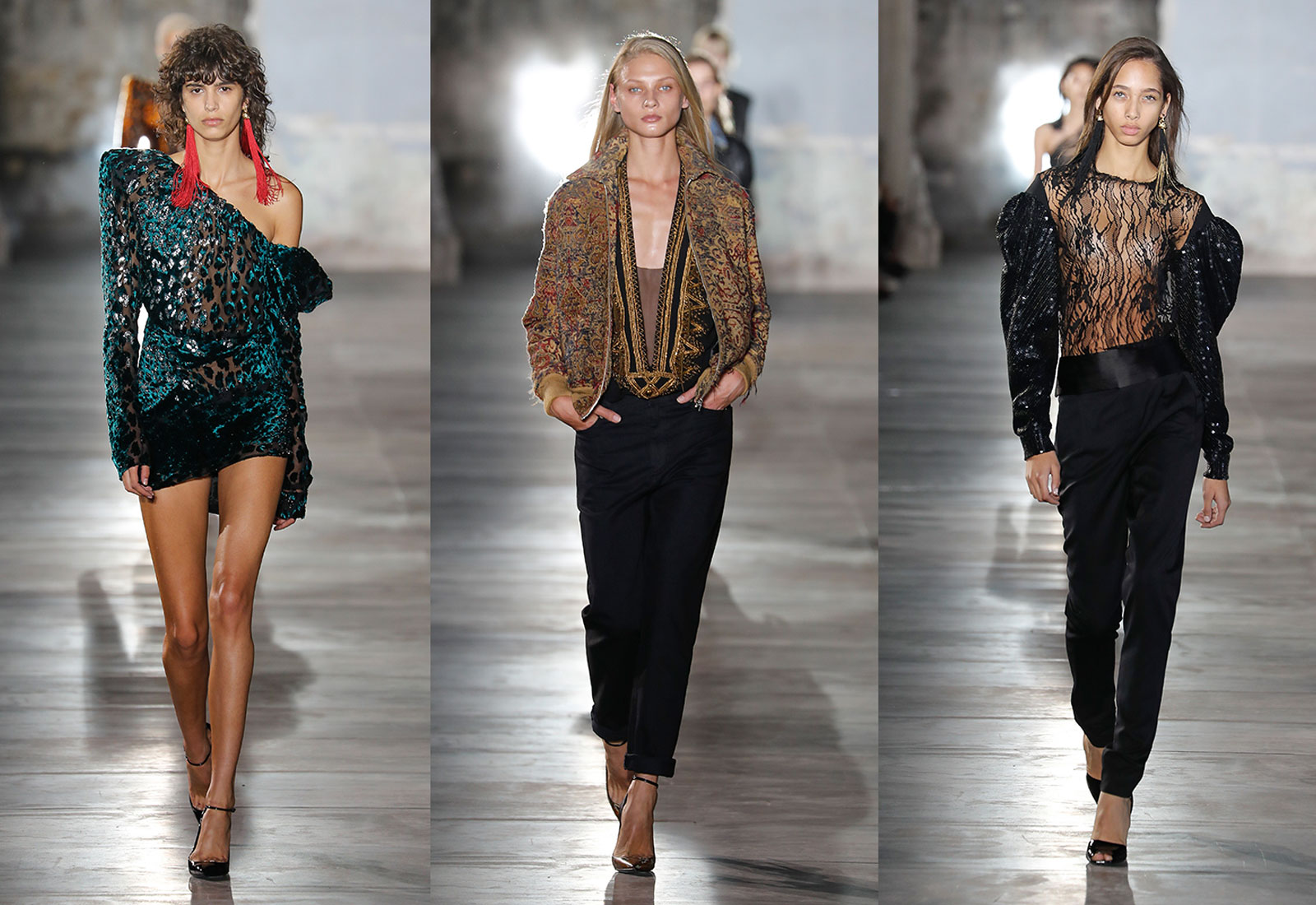anthony vaccarello ysl saint laurent fashion designer new ss17 collection runway looks 1600 x 1100
