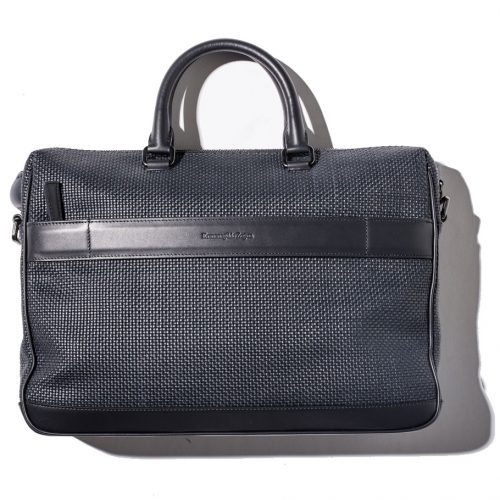 Ermenegildo Zegna Blue Leather Bag