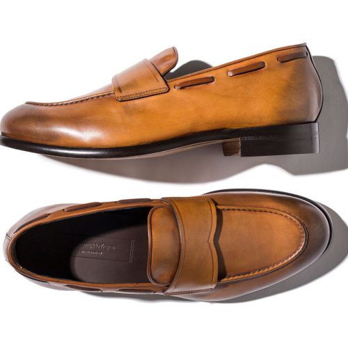 Ermenegildo Zegna Loafer Fascetta in brown leather