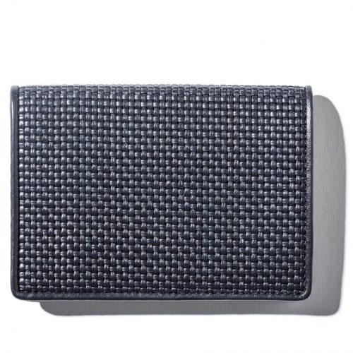 Ermenegildo Zegna Blue Woven Wallet