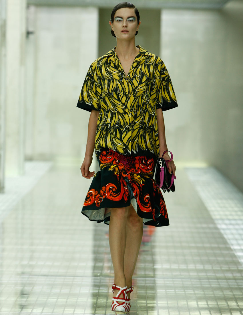 top 5 iconic prada milan collection looks featuring banana print skirt 2011 850 x 1100