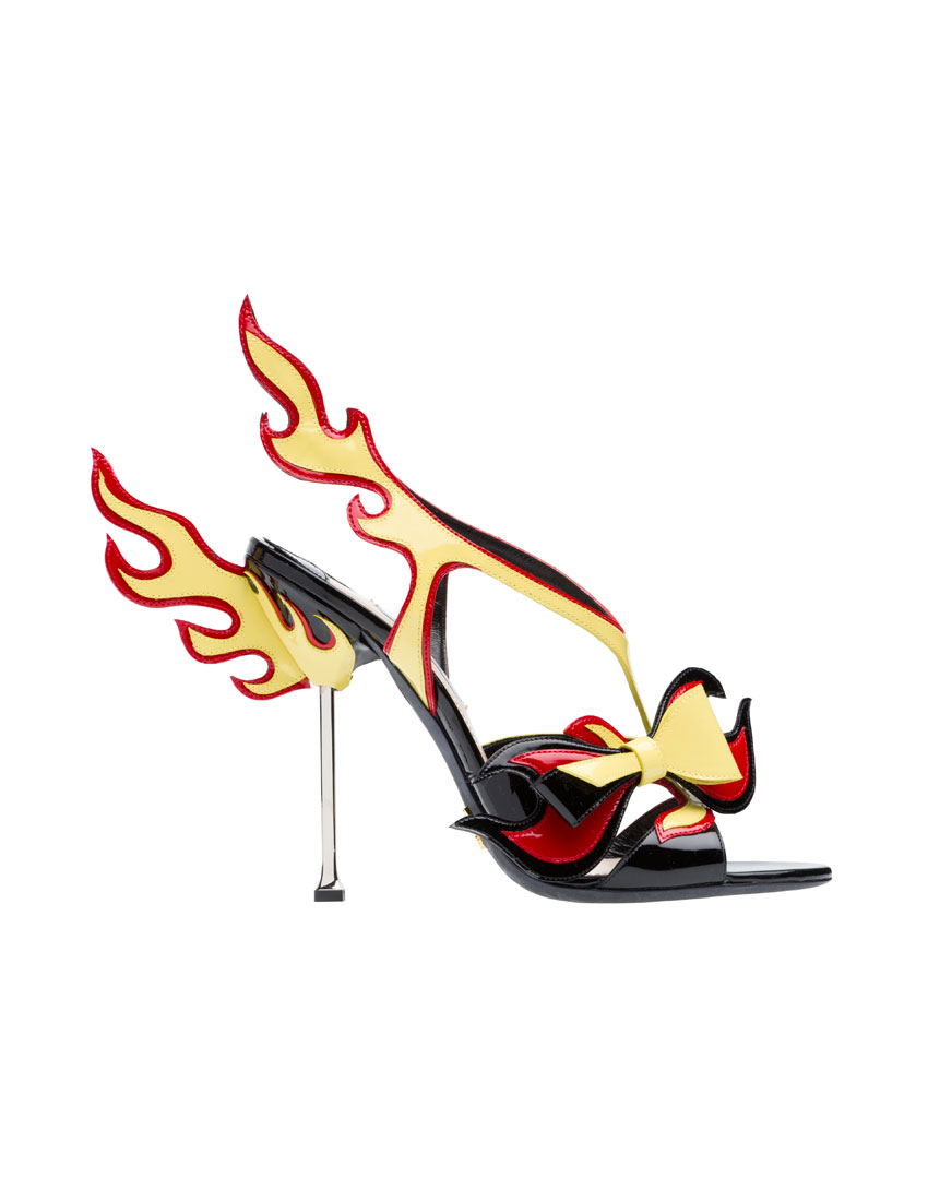 top 5 iconic prada milan collection looks featuring flaming stiletto 2012 850 x 1100