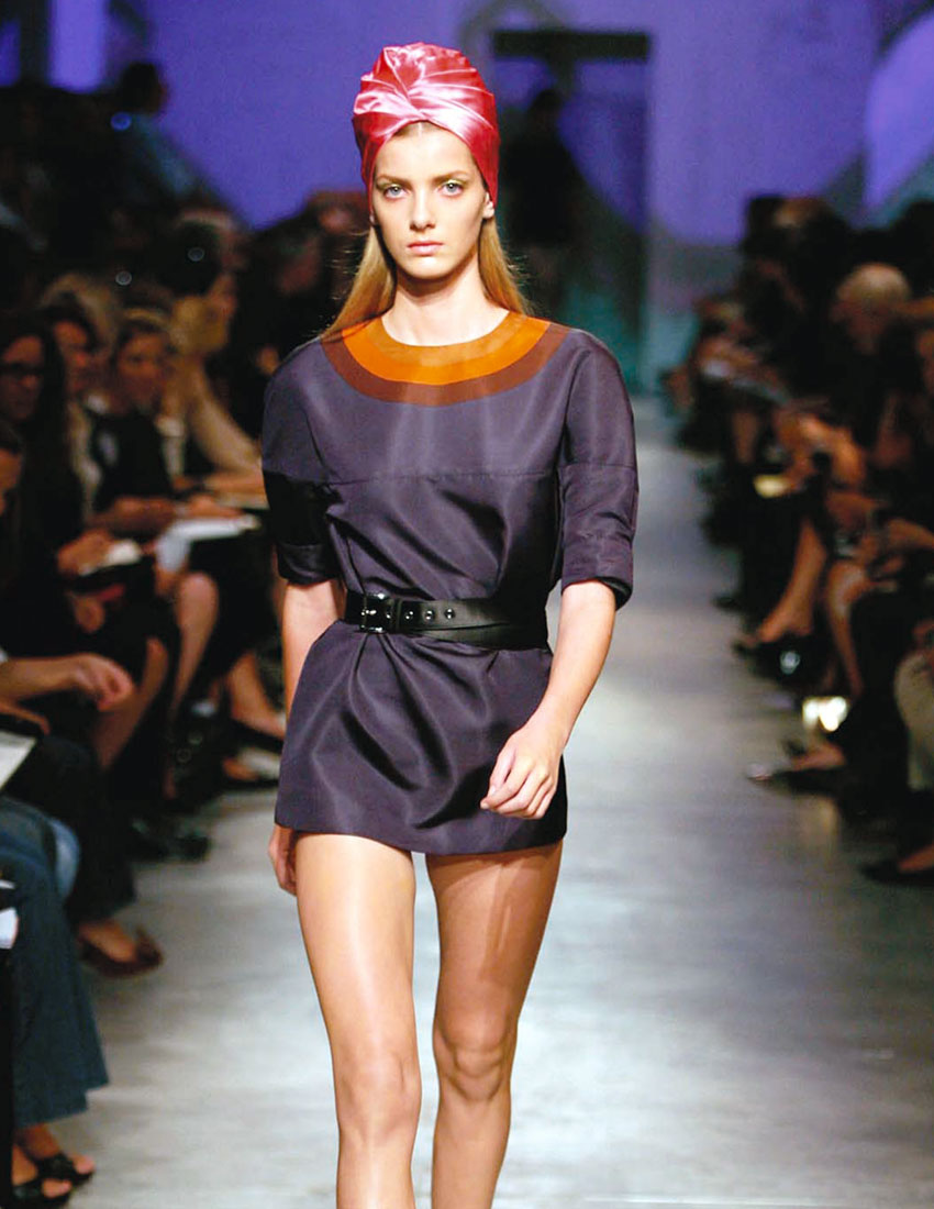 top 5 iconic prada milano collection looks featuring turban 2007 runway 850 x 1100