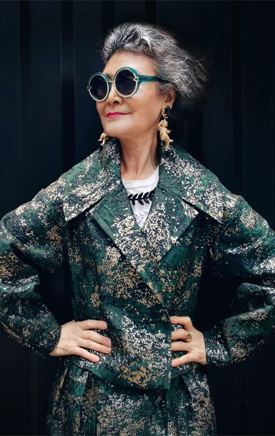 huang yanzhen 73 year old fashion icon from China Xiamen photographed by jesse xiaoye 400x632