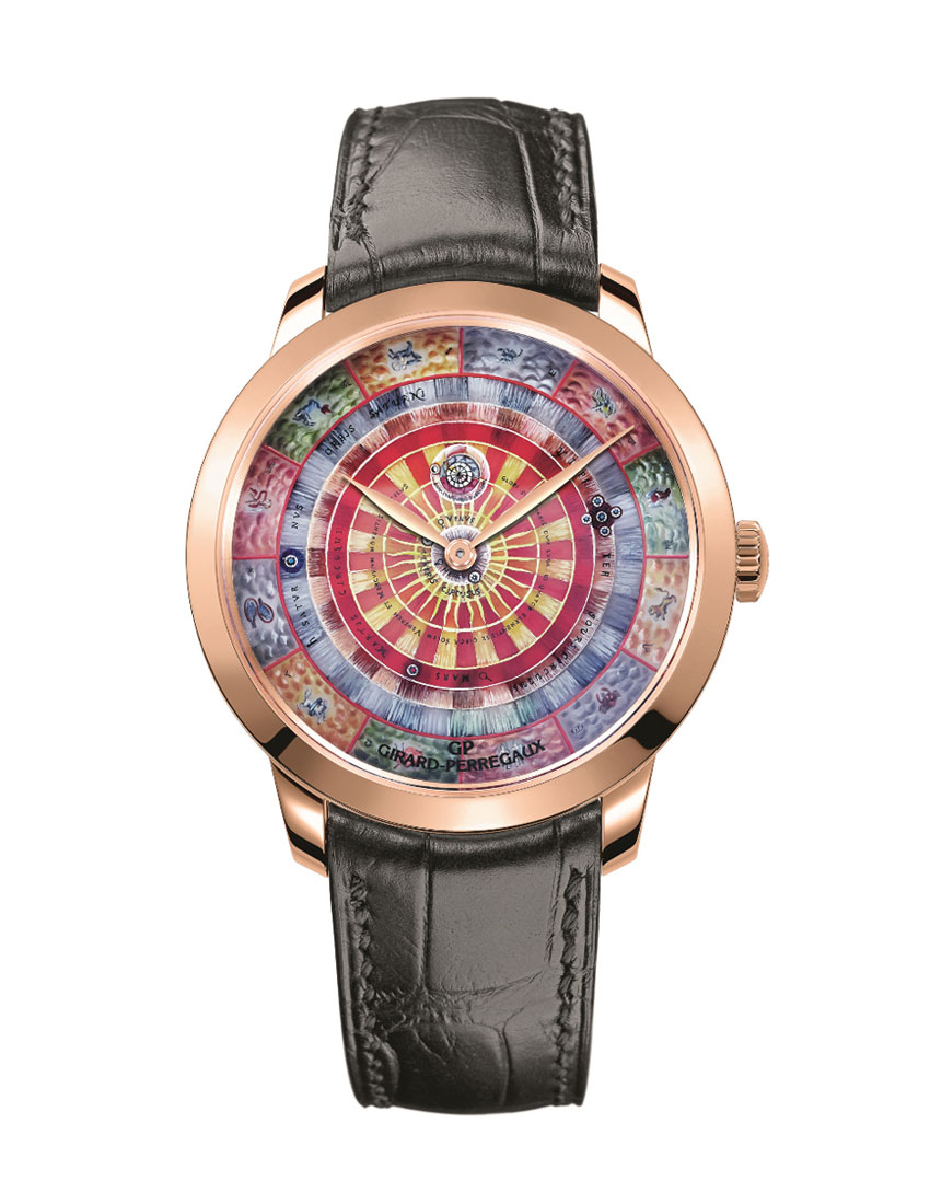 christmas gift guide to top 5 watches for men featuring girard perregaux 1966 centre of the universe sun watch 850x1100