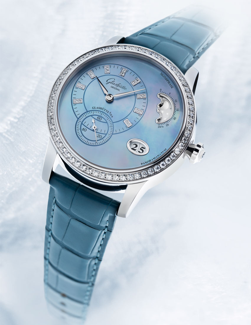 christmas gift guide top 5 women's watches featuring glashutte original pano matic luna 850x1100