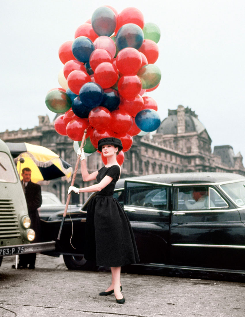 top 5 givenchy fashion featuring audrey hepburn with balloons on set of funny face 850x1100