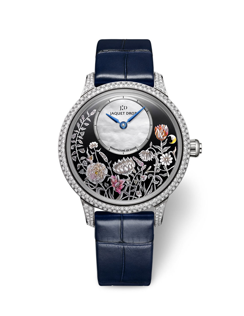 christmas gift guide top 5 women's watches featuring jaquet droz petite heure minute thousand year lights