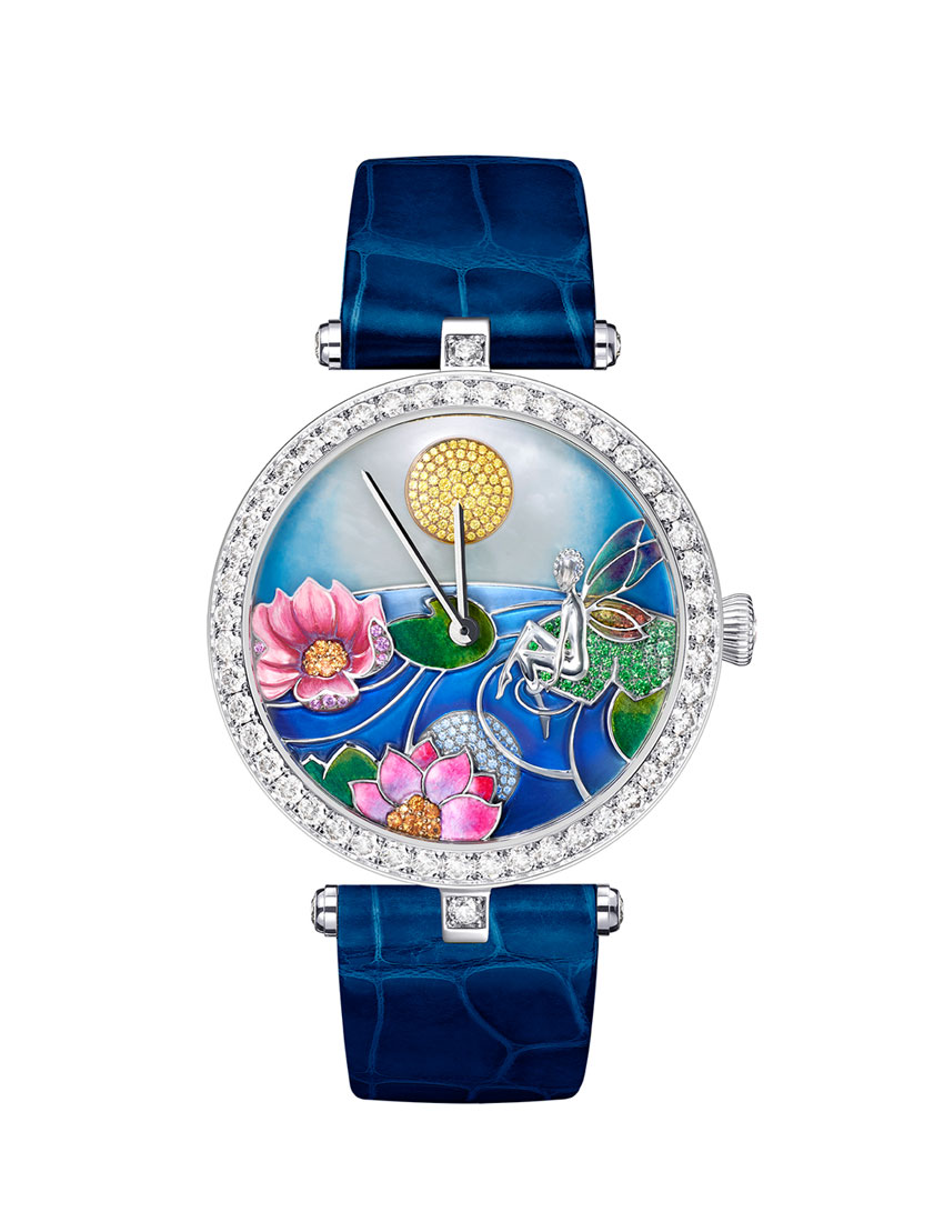 christmas gift guide top 5 women's watches featuring van cleef and arpels jour nuit fee ondine lady arpels 850x1100