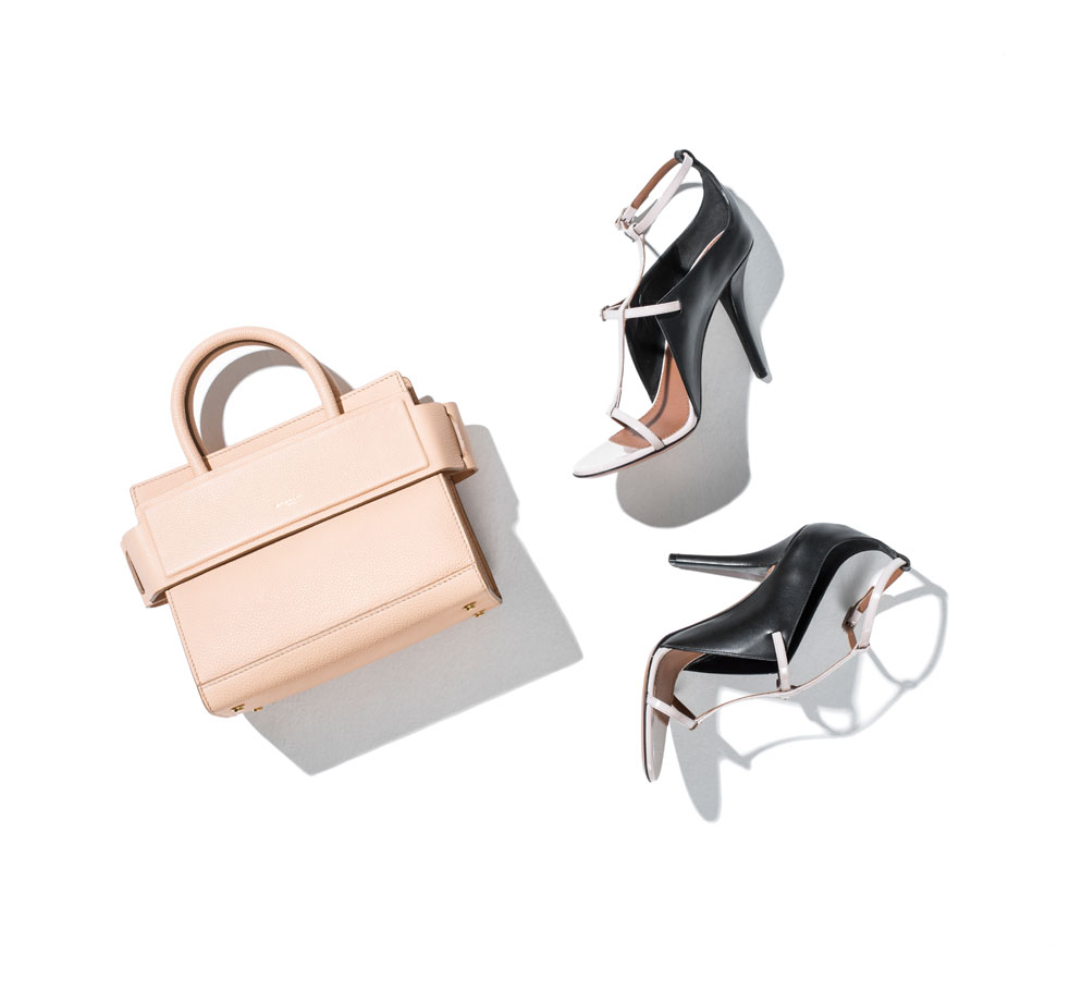 business attire for women featuring givenchy everyday officewear pink handbag and heels