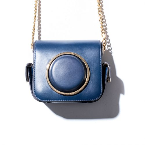 michael kors blue camera bag limited edition