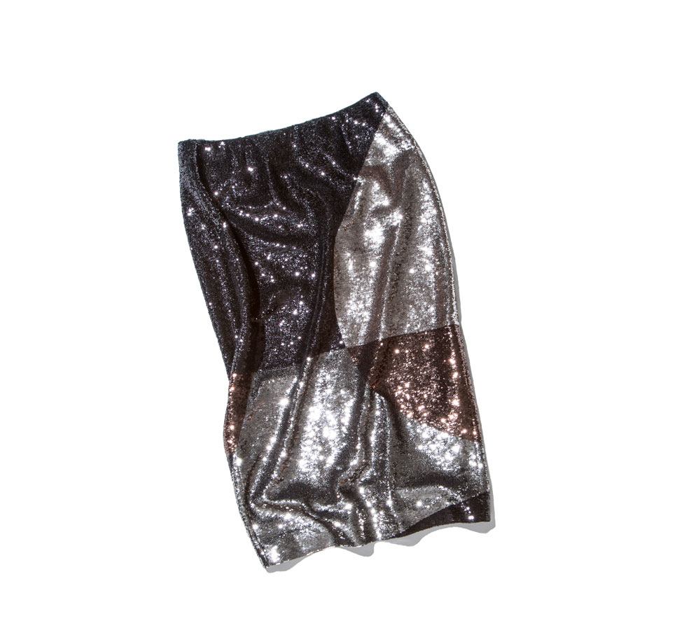 tom ford sequin skirt metallic colours