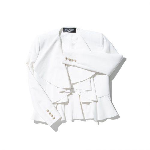 balmain white bolero jacket