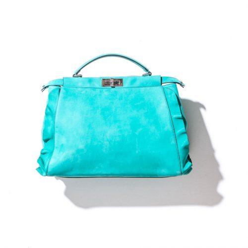 fendi aqua blue purse
