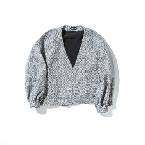 tom ford tweed bubble top black and white