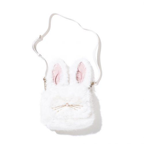 Kate Spade furry shoulder bag white