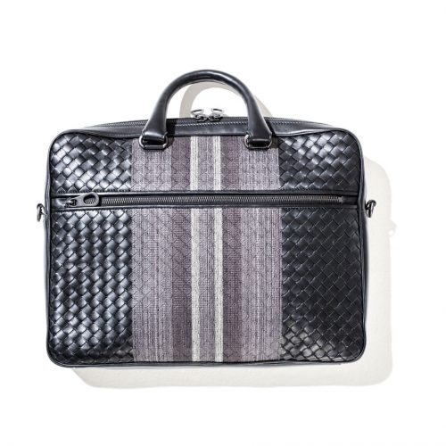 bottega veneta woven suitcase for men
