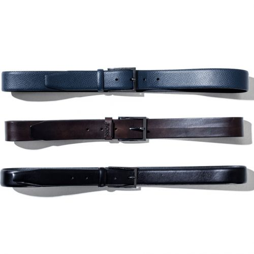 hugo boss classic belts in blue brown and black