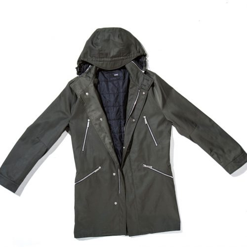 hugo boss olive green overcoat
