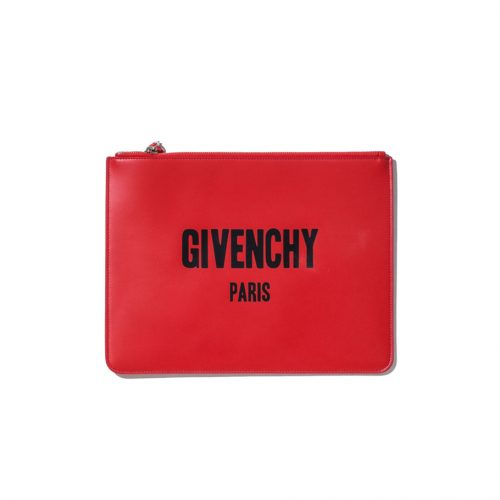 givenchy red travel pouch
