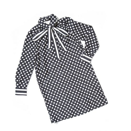 kate spade polka dot silk shirtdress