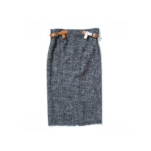 tom ford high waisted midi skirt grey