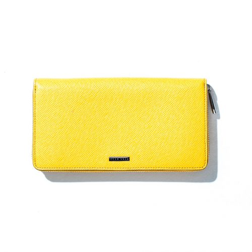 hugo boss travel wallet in yellow