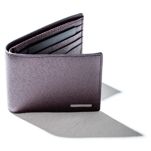 hugo boss leather wallet in brown