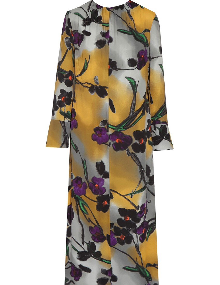 ideas for christmas party outfits featuring marni floral dress